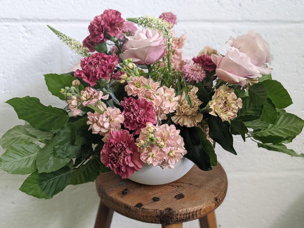 My finishd arrangement at Blooming Haus