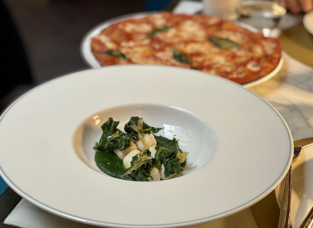 Ricotta dumplings & spinach
