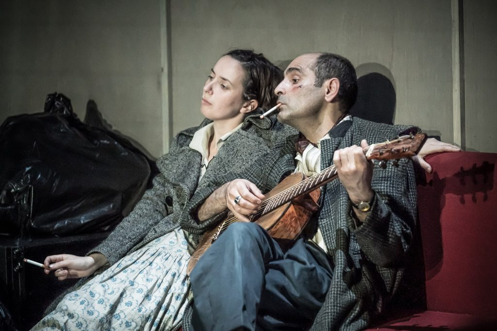 The Two Character Play Image 2 L-R Kate O'Flynn, Zubin Varla Photo © Marc Brenner-min