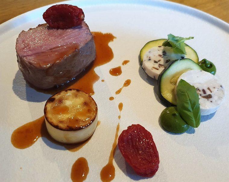 Main course lamb at Tailors restaurant Warwick