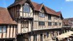 Front and terrace of Lord Leycester Hospital Warwick