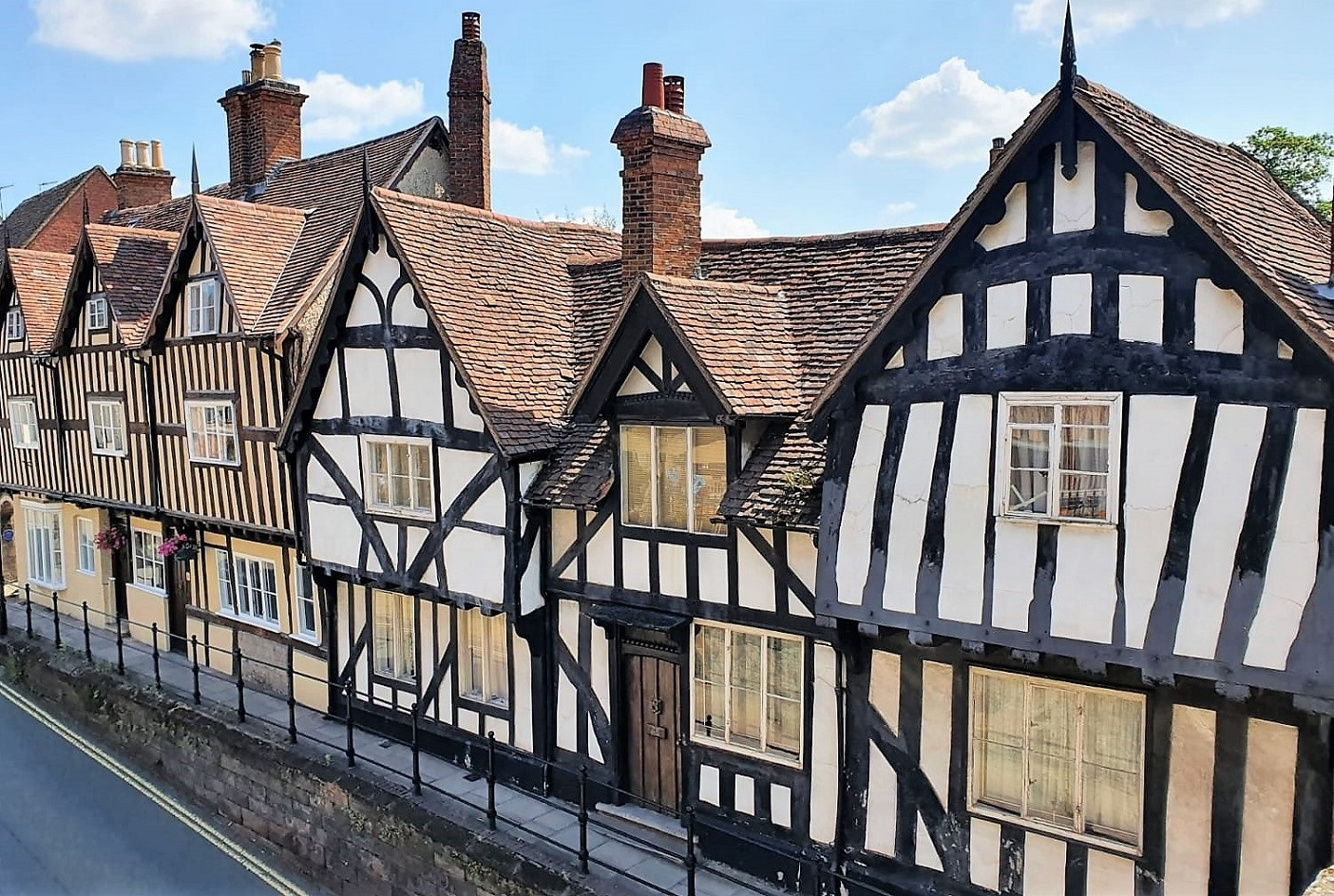 Timber fronted houses in Warwick