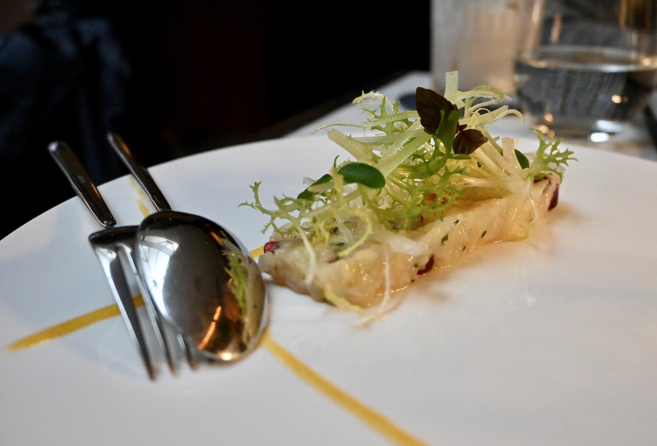 Sea-bass tartare