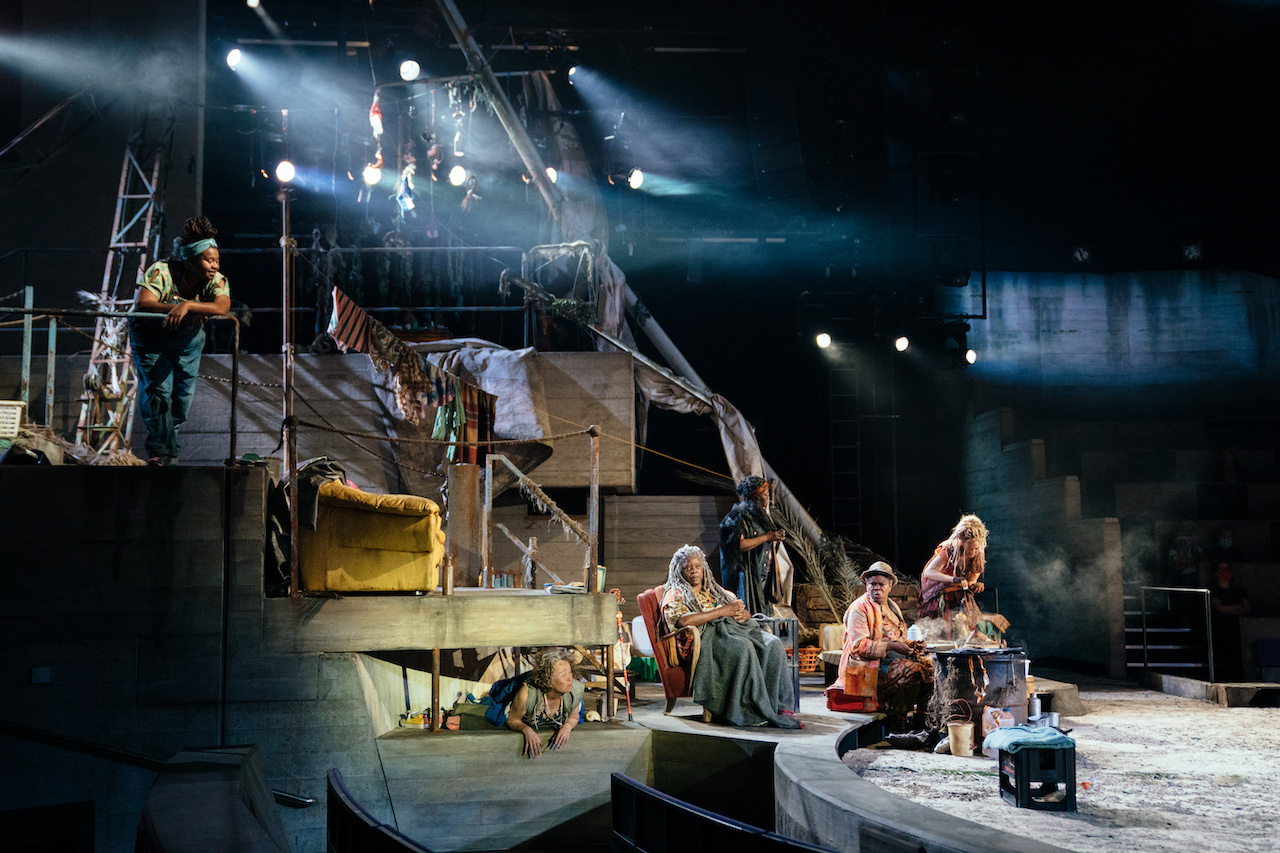 A scene from Paradise at the National Theatre. Photo by Helen Murray_16