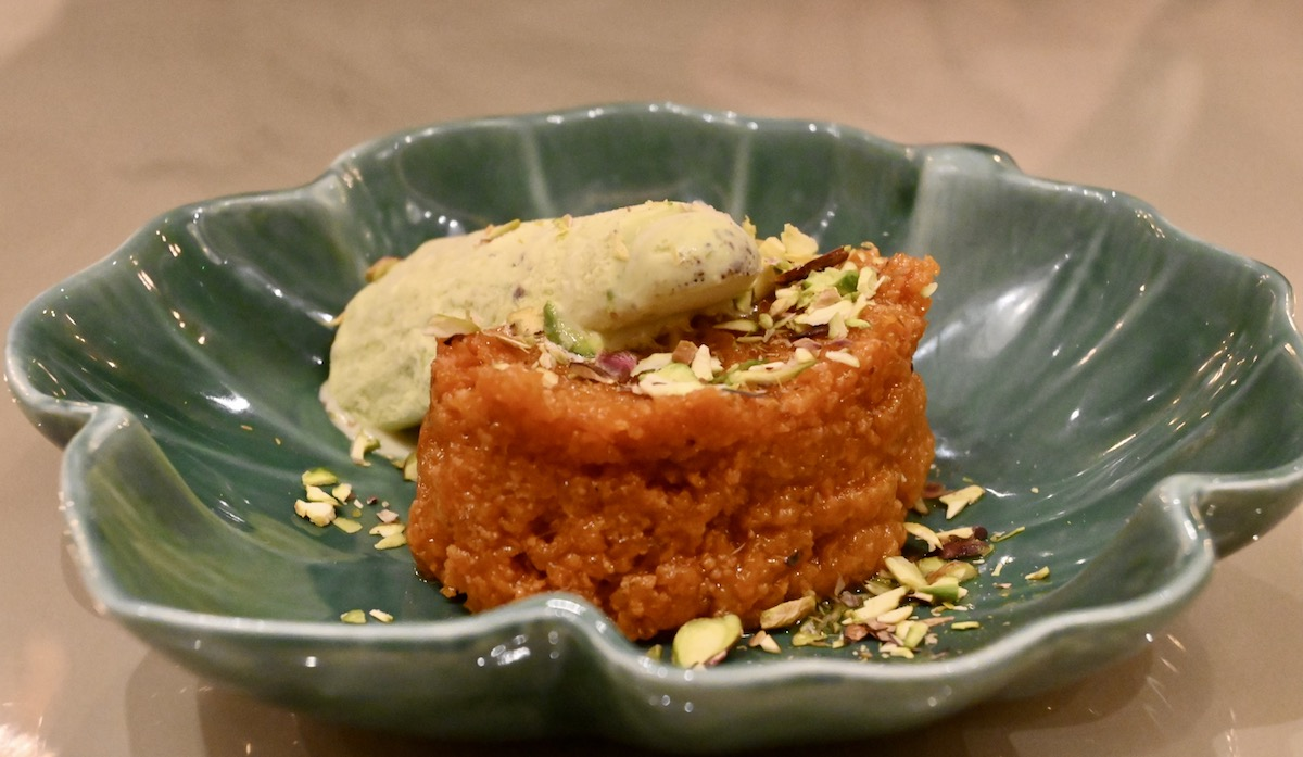Copper Chimney carrot pudding