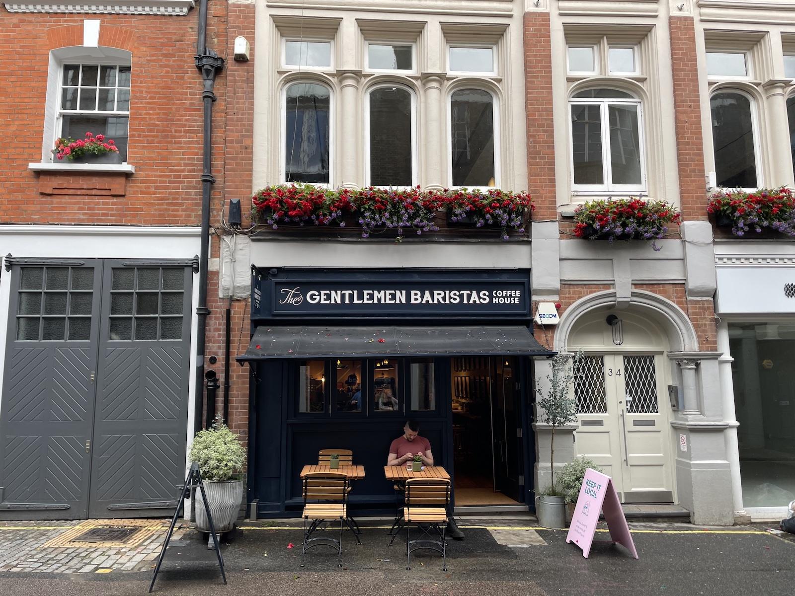 Exterior Gentlemen Baristas Mayfair