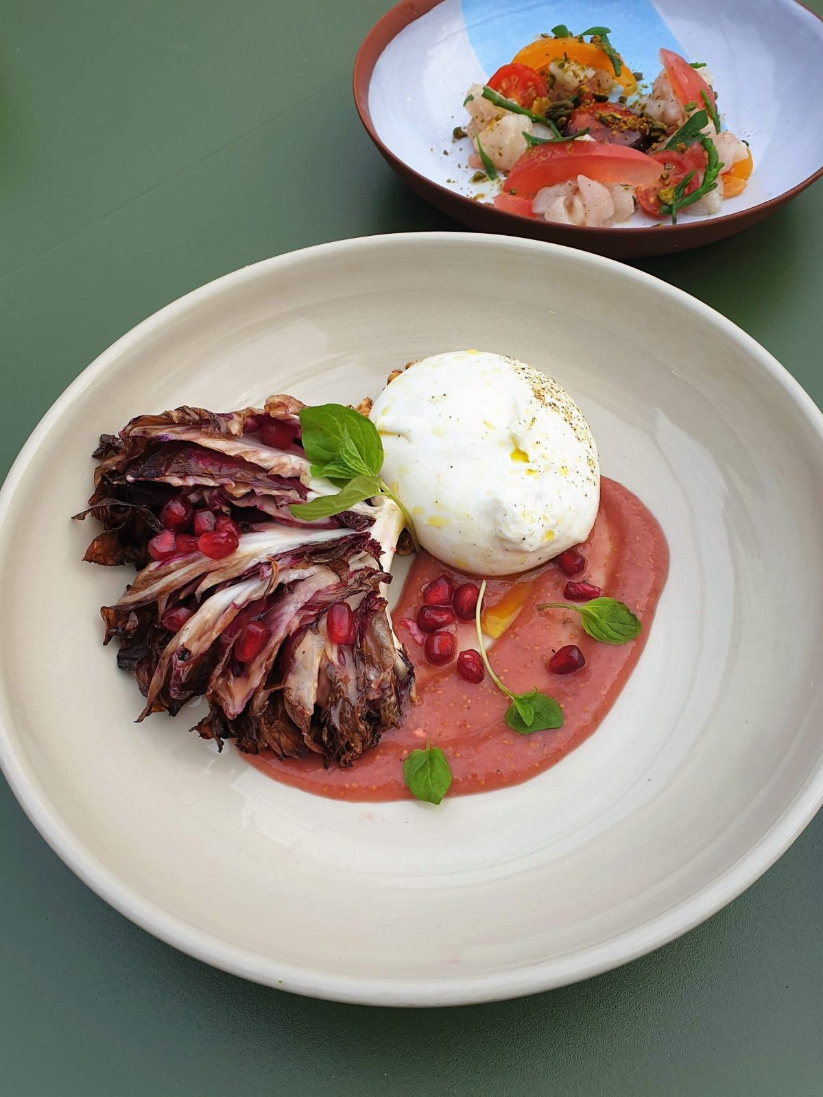 The Engine Rooms Burrata with fig jam