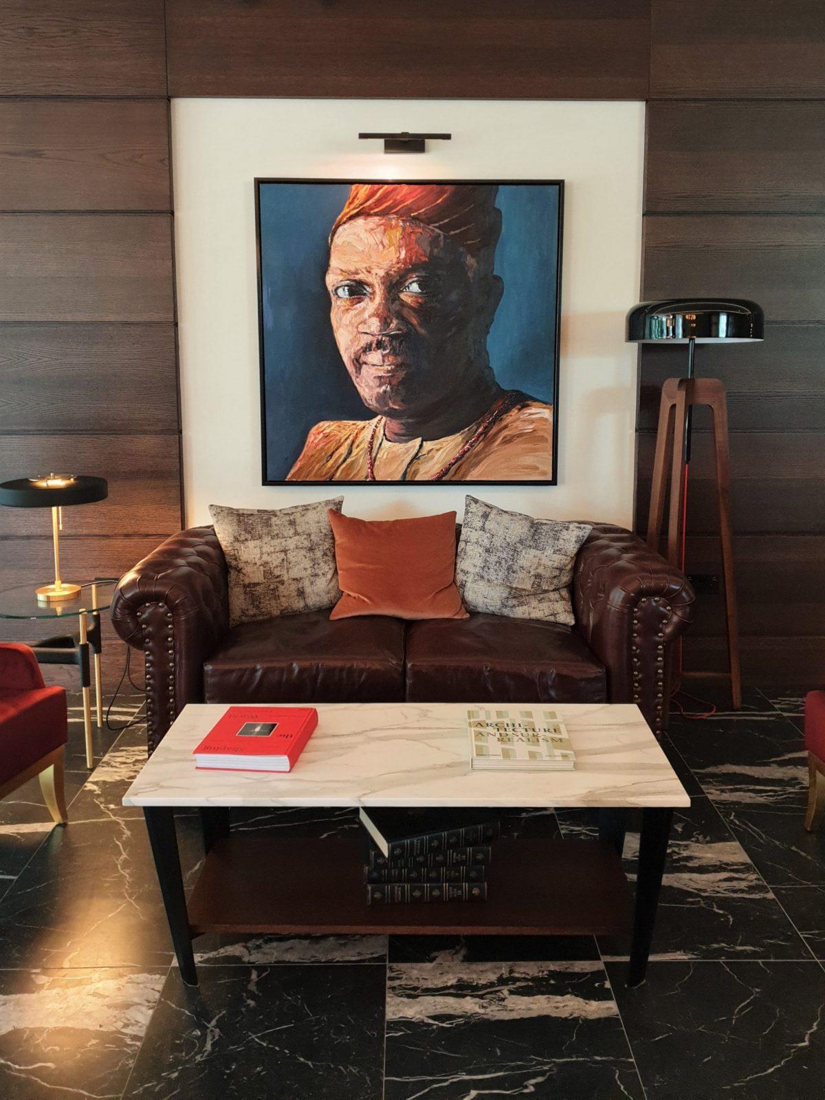 The Fellows House paintings lobby