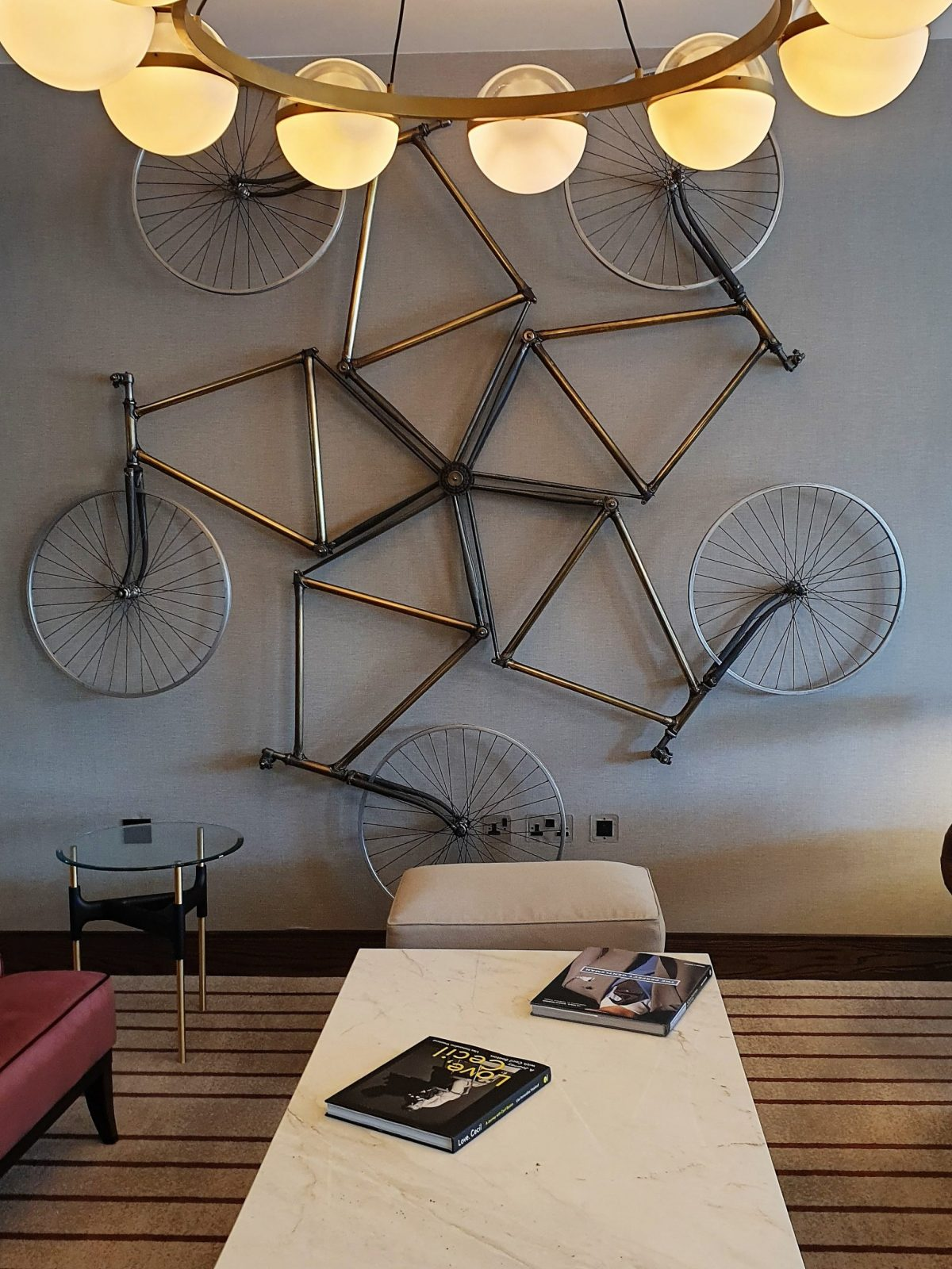 The Fellows Rooms Lobby bicycles