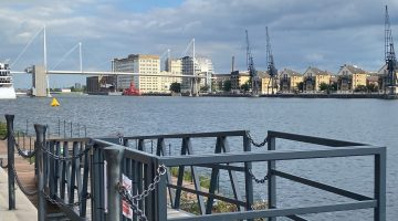 Looking out over the docks Crowne Plaza Royal Victoria Docks