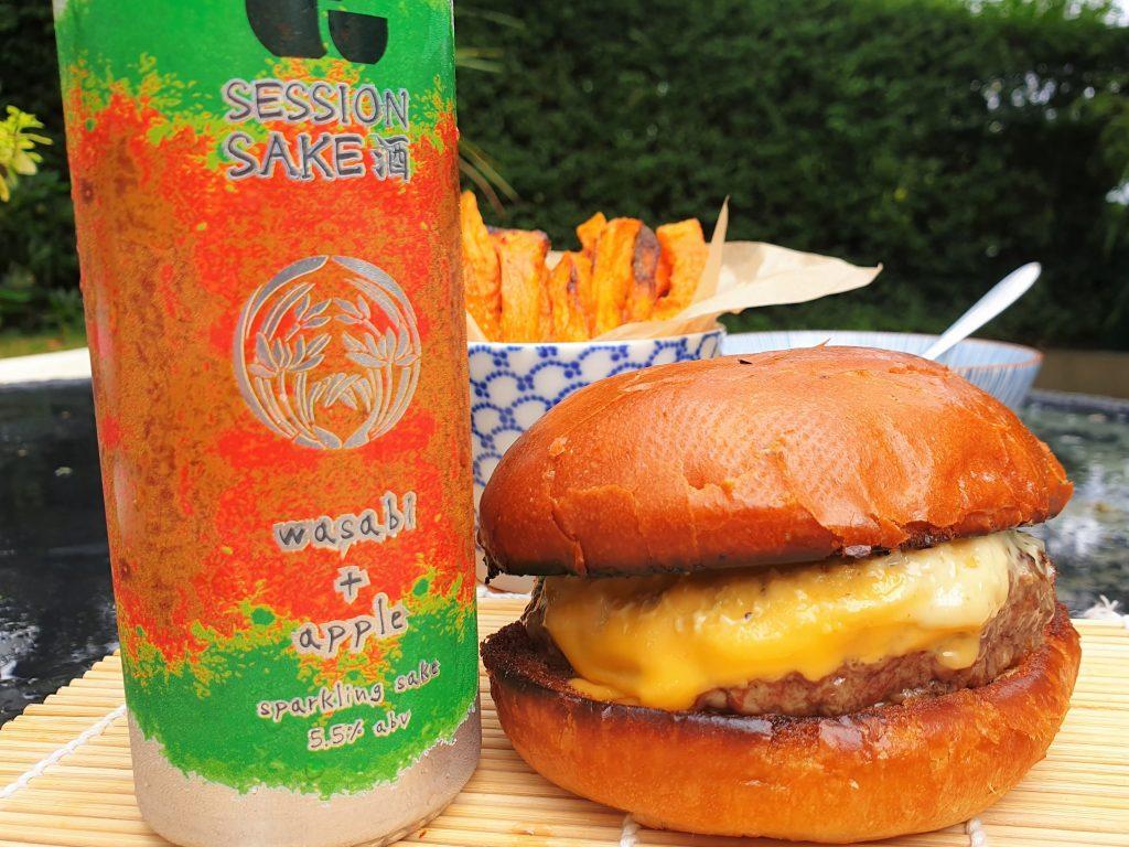 Wagyu burger kit with kanpai sake