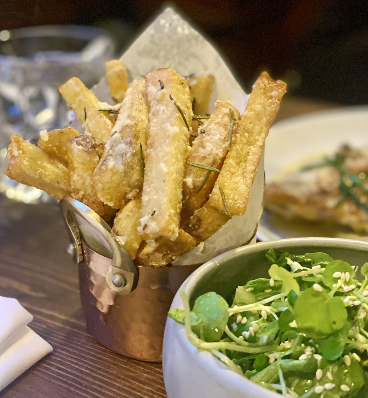 Chips and Salad - The Chesterfield Arms Mayfair