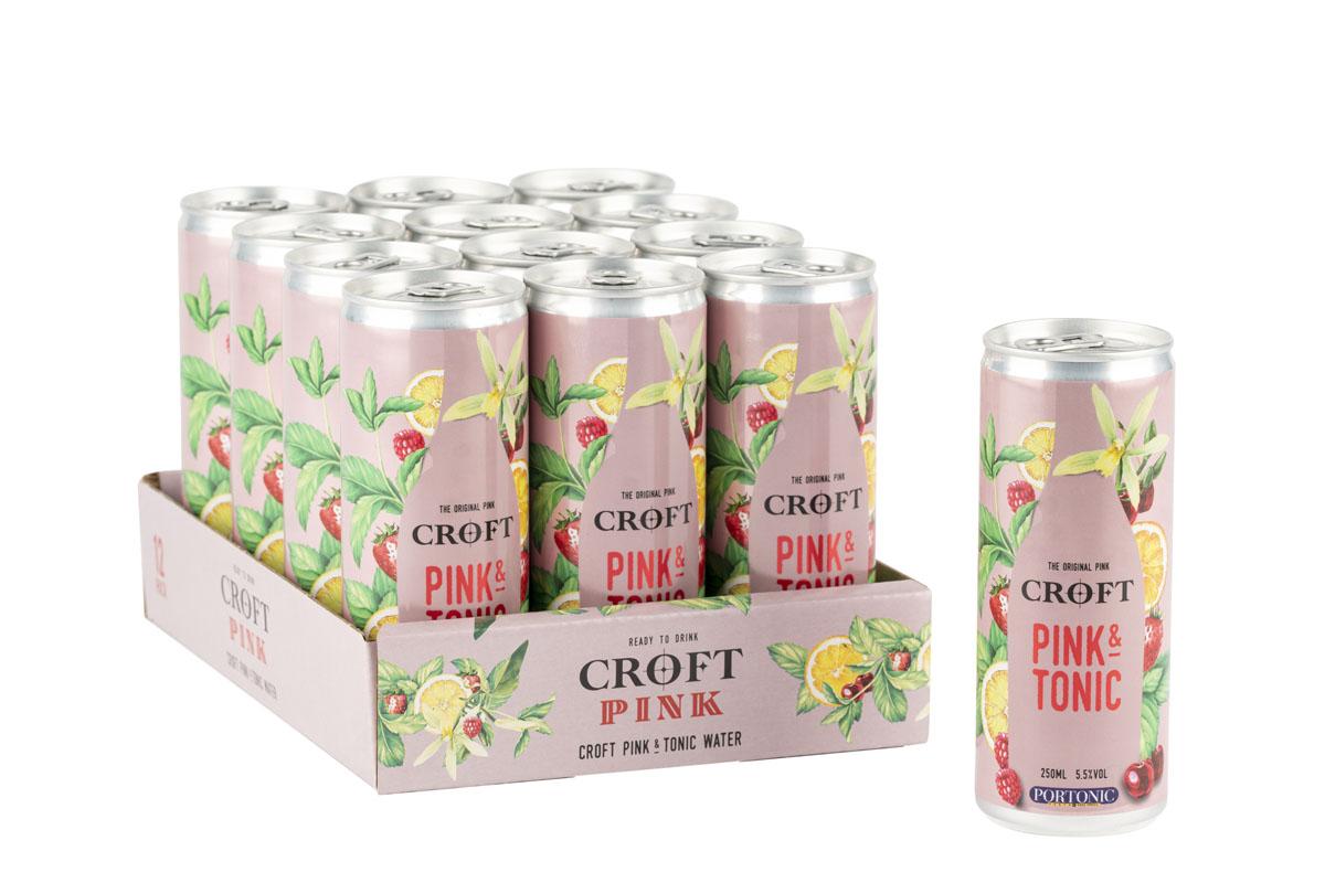 Croft Pink & Tonic RTD 12x 250ml tray (10)- s