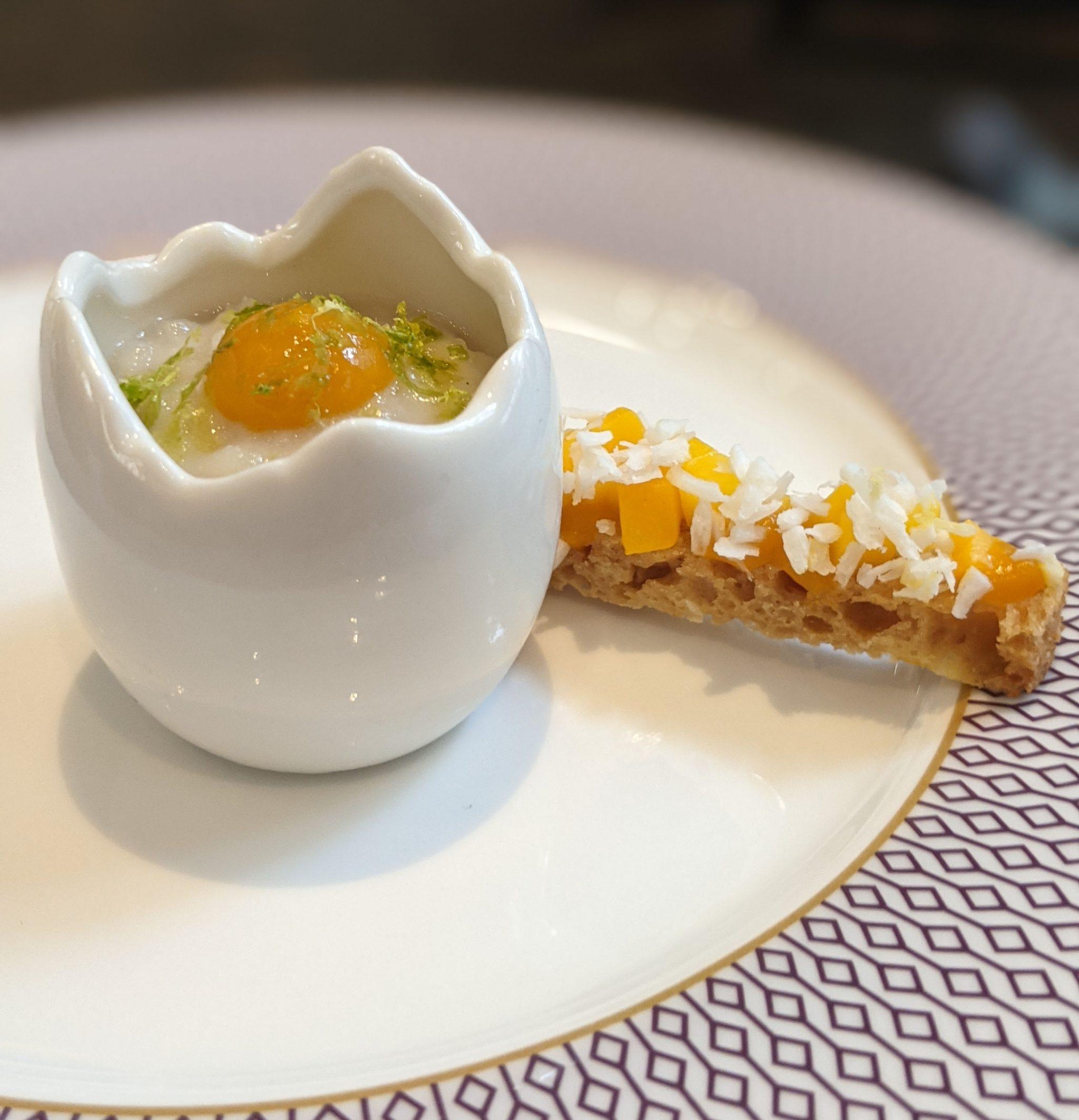 Mango Rice Pudding Egg cake - One Aldwych