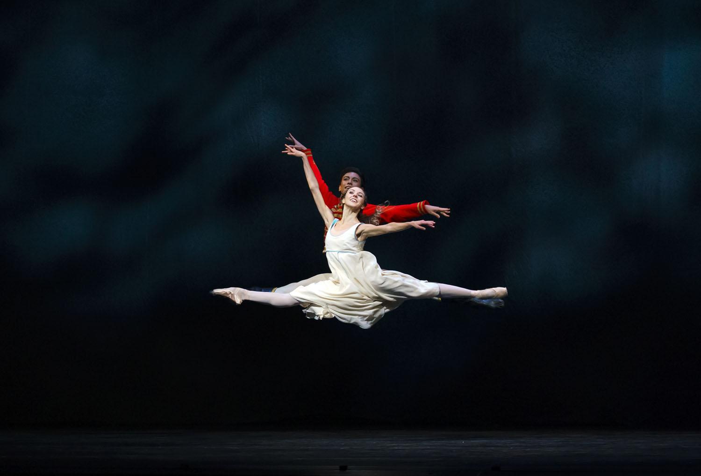 Isabella Gasparini as Clara and Luca Acri as Hans Peter in The Nutcracker, The Royal Ballet © 2020 ROH. Photograph by Emma Kauldhar