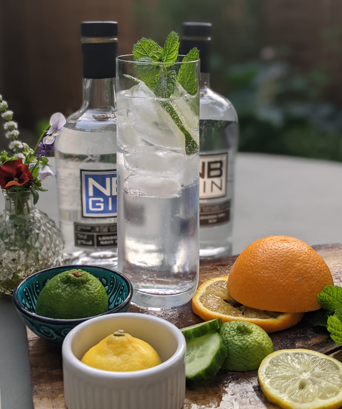 Lime and Mint Gin Garnish