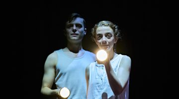 Patsy Ferran (Her) and Luke Thallon (Him) in Camp Siegfried at The Old Vic_Photo by Manuel Harlan