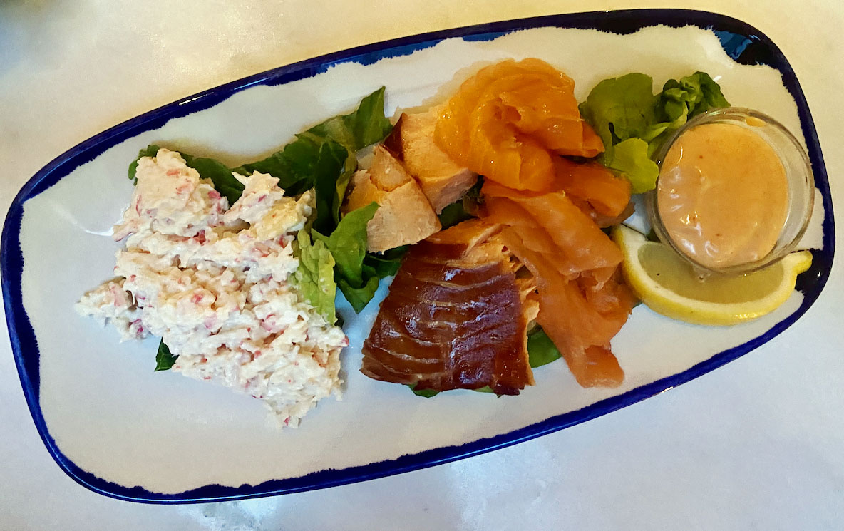 The Seafood Bar salmon trout crab mayo