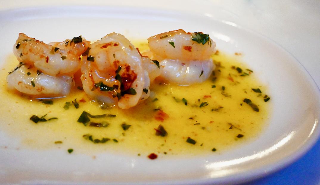 The Seafood Bar shrimp in garlic butter