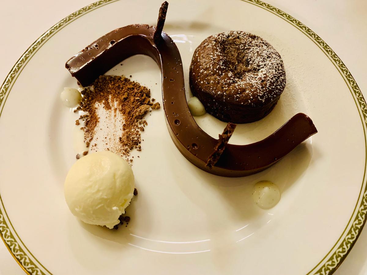 Ashdown Park Hotel chocolate fondant