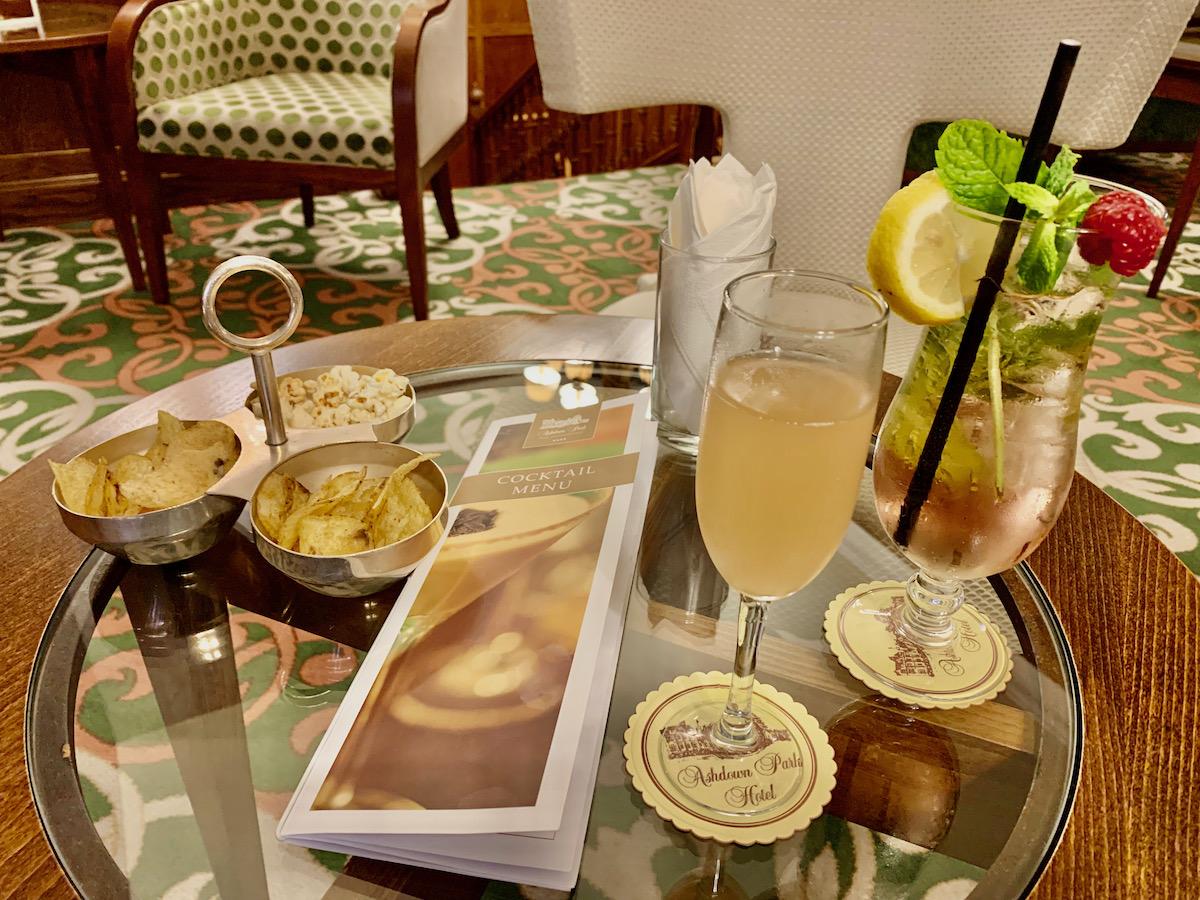 Ashdown Park Hotel cocktails