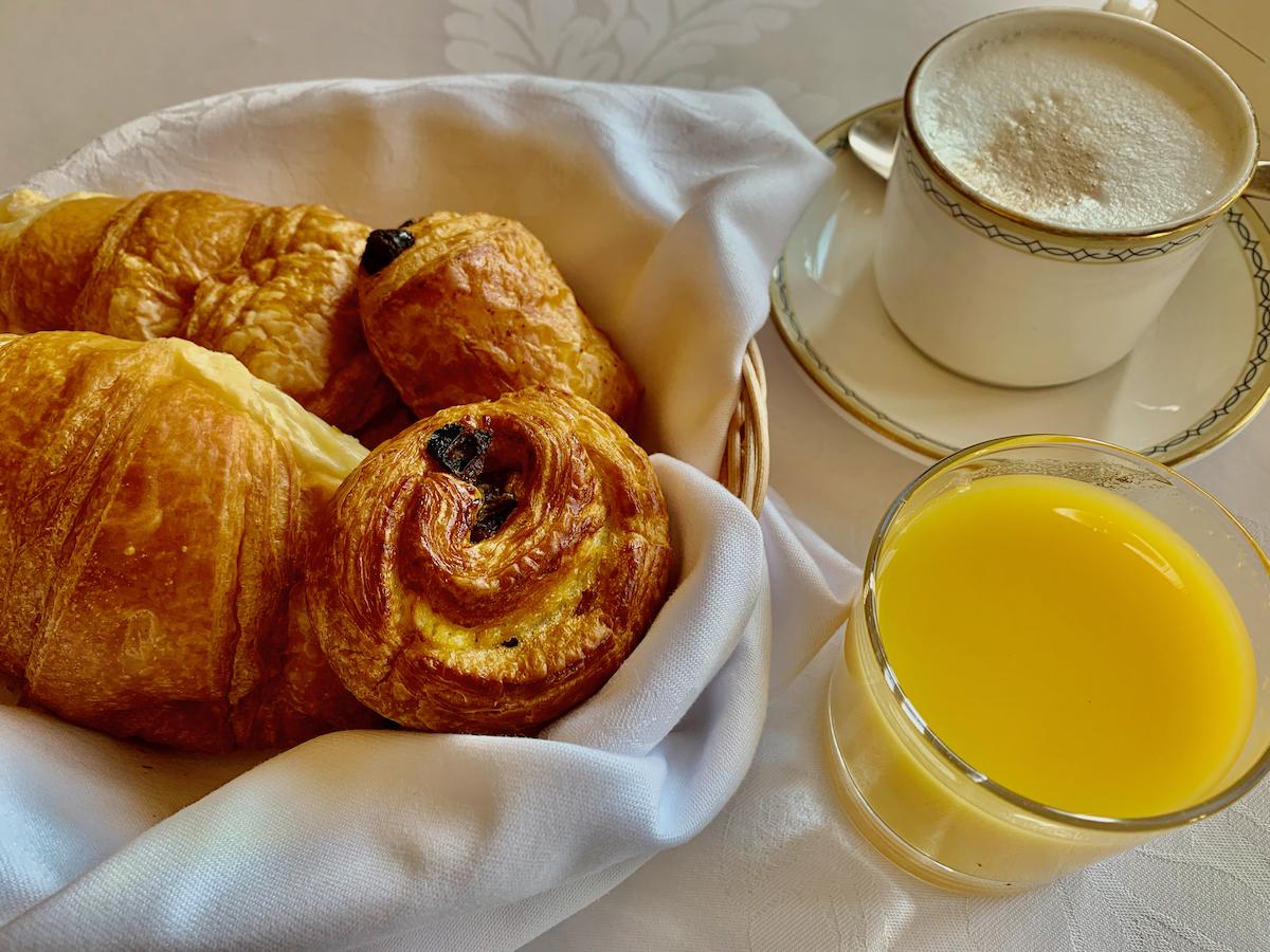 Ashdown Park Hotel croissants
