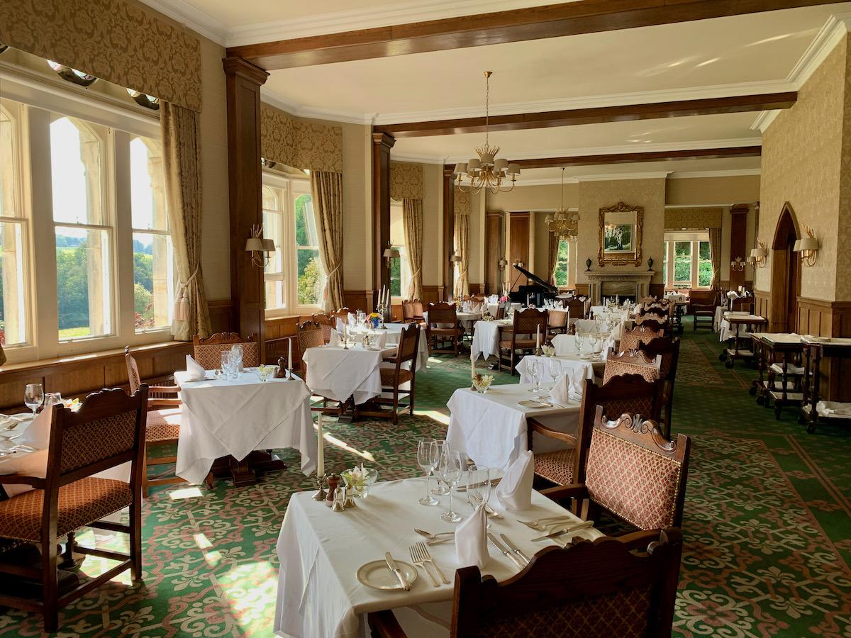 Ashdown Park Hotel dining rool