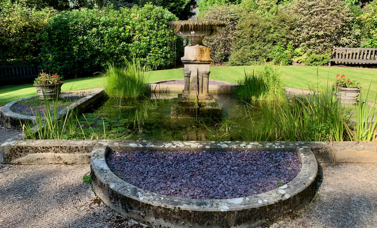 Ashdown Park Hotel secret garden