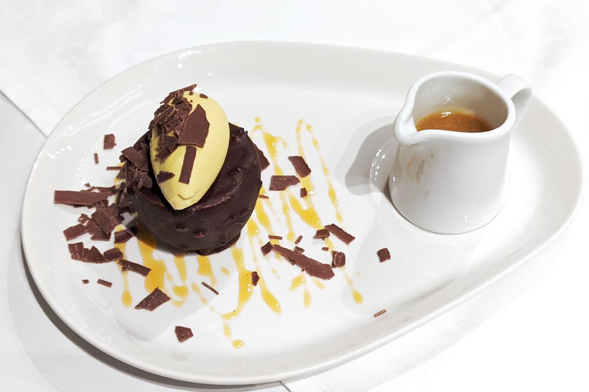 Dessert at Tylney Hall Oak Room Restaurant