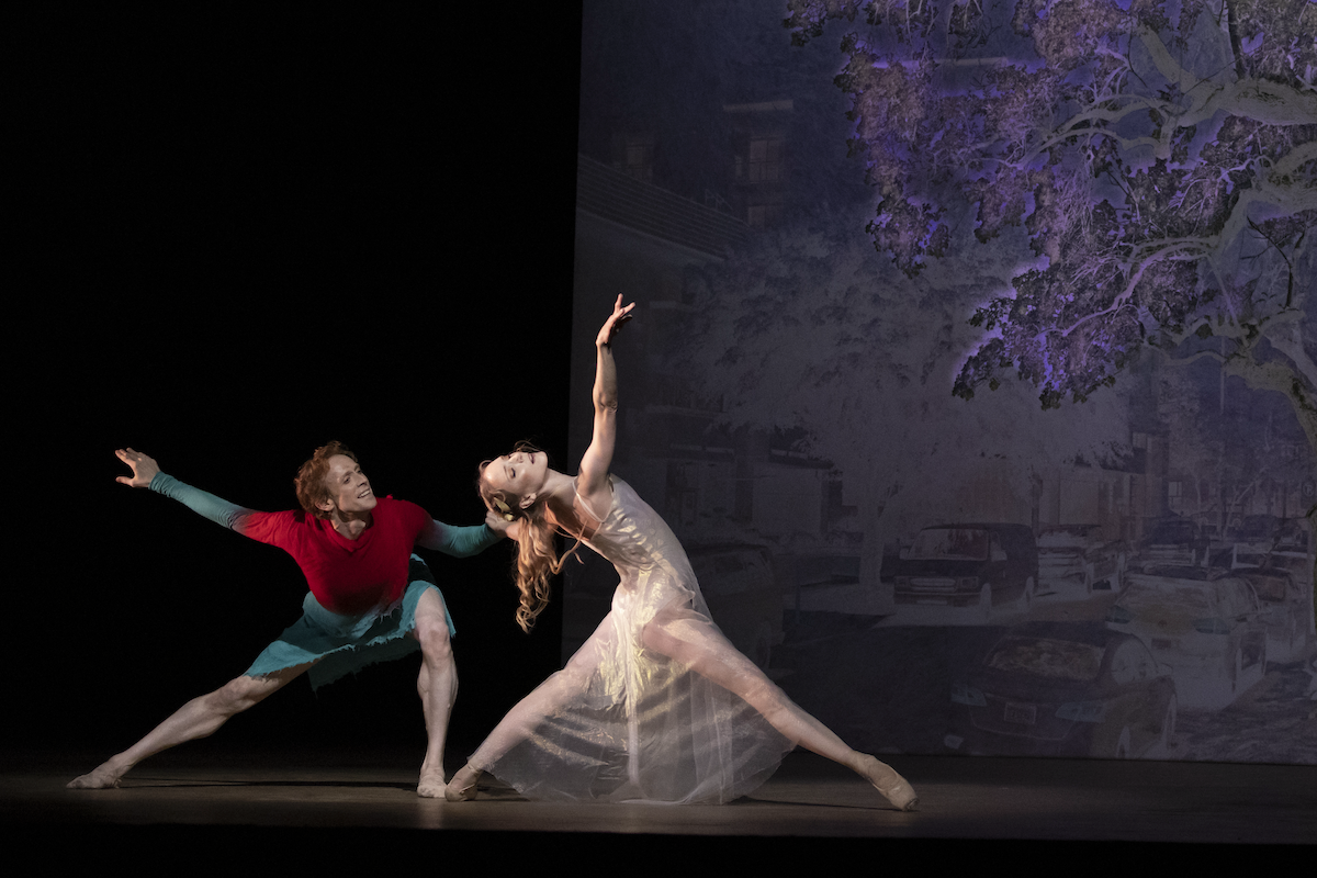 Edward Watson and Sarah Lamb in The Dante Project, The Royal Ballet ©2021 ROH. Photograph by Andrej Uspenski