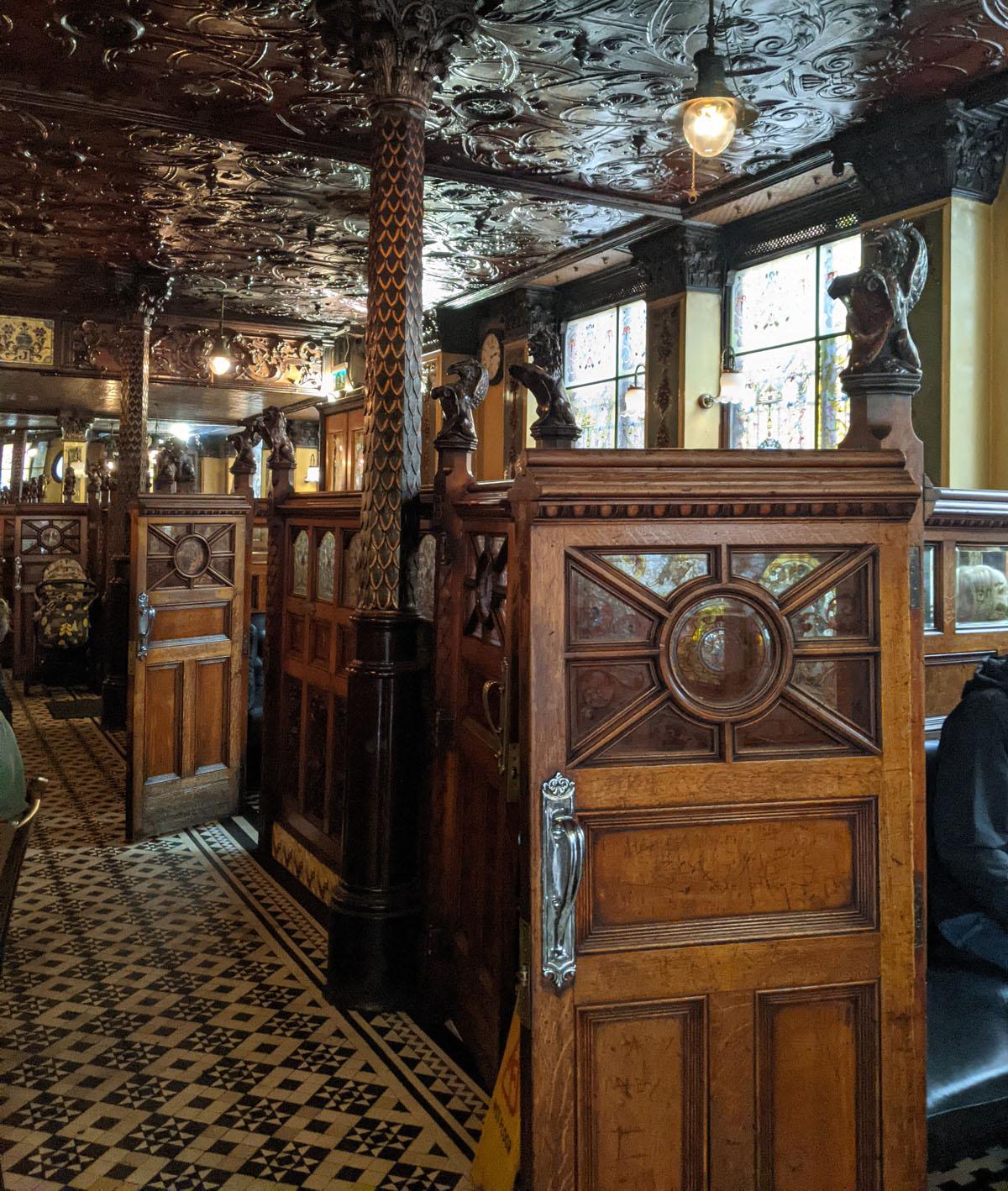 Inside the Crown Pub Belfast