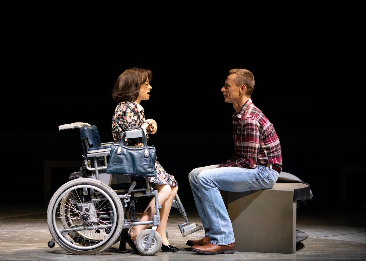 Liz Carr and Ben Daniels, The Normal Heart (c) Helen Maybanks