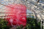 One Thousand Springs by Chiharu Shiota at RBG Kew