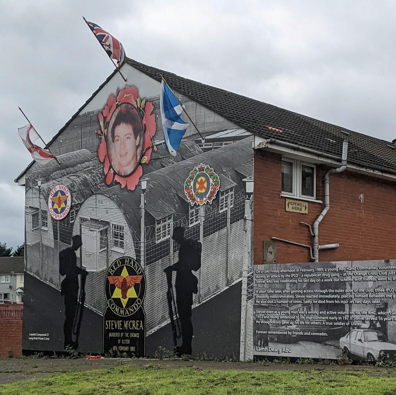 Political streetart Belfast