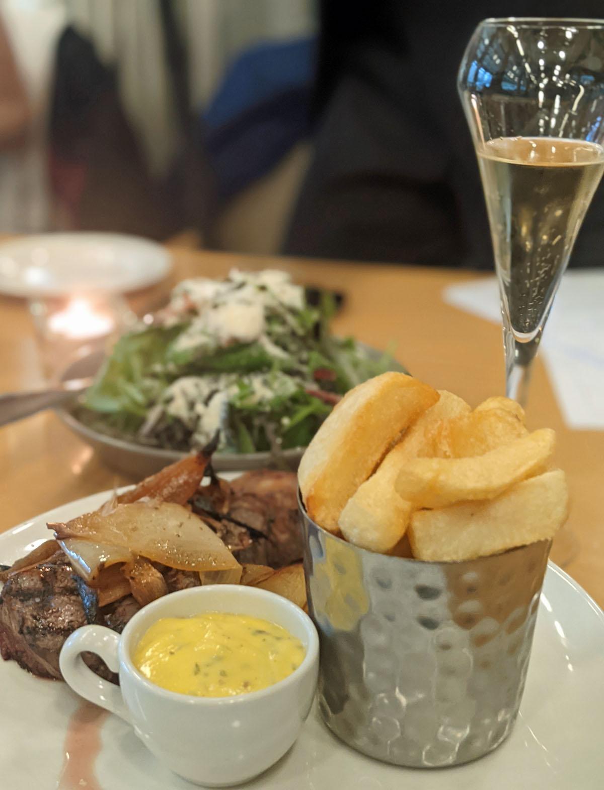 Deanes by Quens Steak, Salad Champagne Belfast